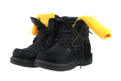 Winter shoes Stock Photos