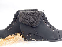 Winter shoes, female boots Royalty Free Stock Photos