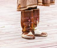 Winter shoes for natives of Kamchatka. Royalty Free Stock Images