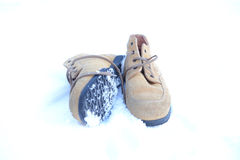 Winter shoes Stock Image