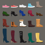Winter shoes Royalty Free Stock Images