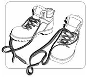 Winter shoes Royalty Free Stock Photo