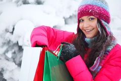 Winter shopping Stock Images