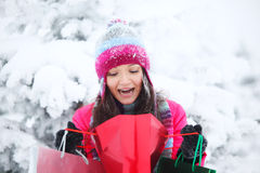 Winter shopping Stock Photo