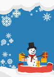 Winter Shopping Background Royalty Free Stock Image
