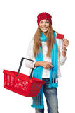 Winter shopping Royalty Free Stock Image
