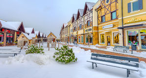 The winter shopping street Royalty Free Stock Photo