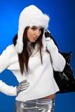 Winter shopping woman Royalty Free Stock Photo