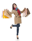 Winter shopping woman Royalty Free Stock Image