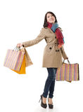 Winter shopping woman Royalty Free Stock Photography