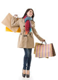Winter shopping woman Royalty Free Stock Images
