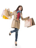 Winter shopping woman Stock Photography