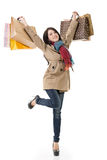 Winter shopping woman Stock Image