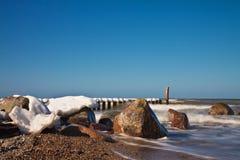 Winter on shore Stock Photo