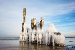 Winter on shore of the Baltic Sea Royalty Free Stock Photography