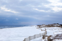 Winter Shore. South Hampton beach in the winter. Long Island, New York Stock Images