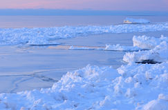 Winter Shoreline Lake Michigan Royalty Free Stock Image