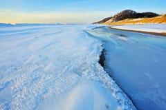 Winter Shoreline Lake Michigan Royalty Free Stock Photo