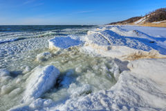Winter Shoreline Lake Michigan Royalty Free Stock Photo