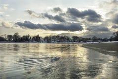 Winter shoreline Warwick Royalty Free Stock Photography