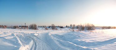 Winter of Siberia Royalty Free Stock Images