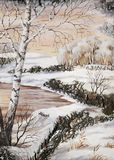 Winter Siberian landscape Stock Photo