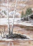 Winter Siberian landscape Stock Image