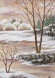 Winter Siberian landscape Royalty Free Stock Photo