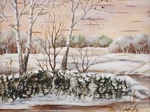 Winter-Sibirierlandschaft Stockfotos