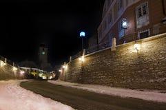 Winter in Sibiu around Christmas Royalty Free Stock Image