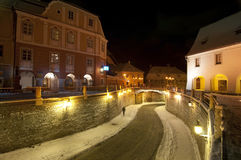Winter in Sibiu around Christmas Royalty Free Stock Photos