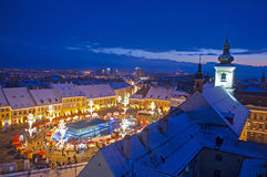 Winter in Sibiu Stock Photos