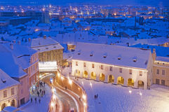 Winter in Sibiu Stock Photo