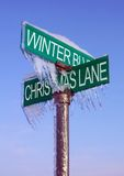 Winter Sign Stock Photography