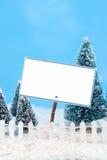 Winter sign Stock Photos