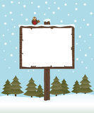 Winter sign post Royalty Free Stock Photos