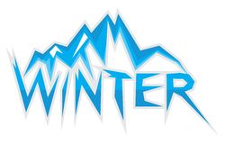 Winter sign Royalty Free Stock Photo