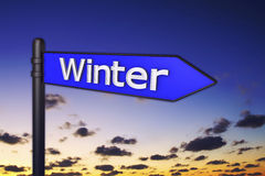 Winter signs Royalty Free Stock Photos