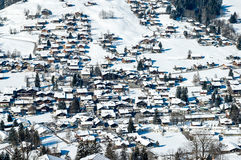 Winter in Simmental, Switzerland Royalty Free Stock Photo