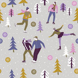 Winter skaters Royalty Free Stock Photography
