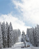 Winter ski landscape Stock Images