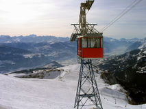 Winter Ski lift Royalty Free Stock Photo