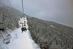 Winter ski lift landscape Royalty Free Stock Photography