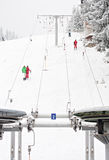 Winter ski lift snow sport people Stock Image