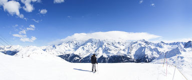 Winter ski panorama Stock Images
