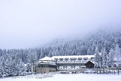 Winter ski resort Stock Images