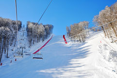 Winter ski resort Royalty Free Stock Image