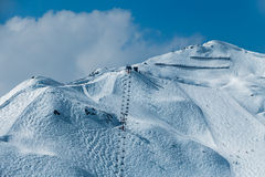 Ski resort in the Alps full of snow Royalty Free Stock Images