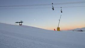 Winter ski resort in France stock footage