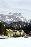 Winter ski resort in Italy Royalty Free Stock Photography